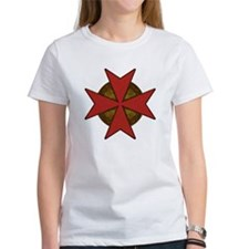 maltesecrossgoldred.png Tee