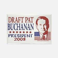 Draft Pat Buchanan Rectangle Magnet