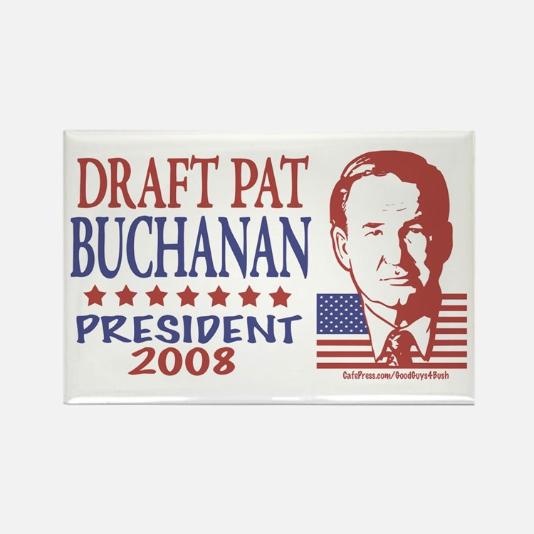 Draft Pat Buchanan Rectangle Magnet