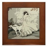 Borzoi framed tile Framed Tiles