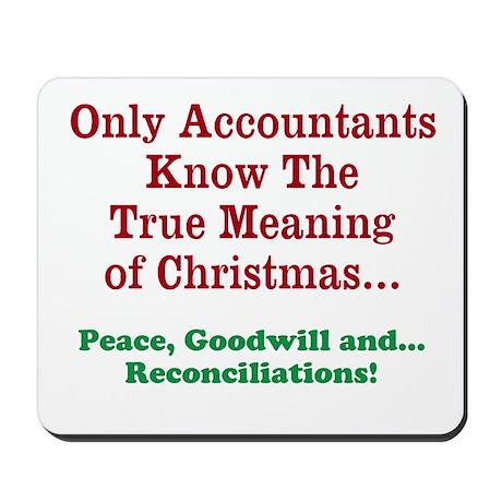 Accountant CPA Christmas Funny Mousepad
