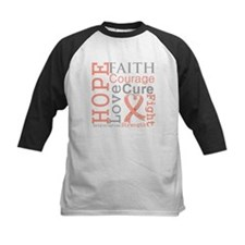 Hope Courage Uterine Cancer Tee