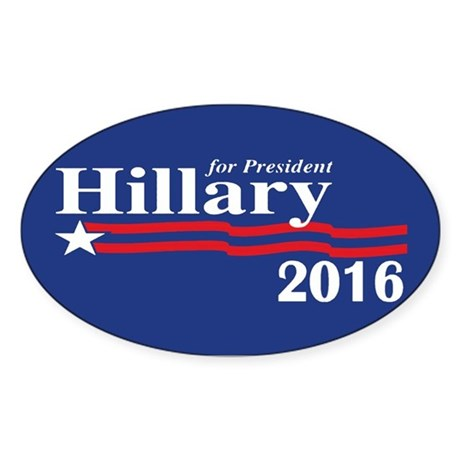 Hillary Clinton For President 2016 Sticker (Oval)