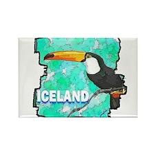 iceland puffin art illustration Rectangle Magnet (