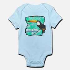 iceland puffin art illustration Infant Bodysuit