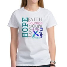 Thyroid Cancer Hope Courage Tee