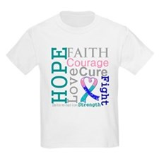 Thyroid Cancer Hope Courage T-Shirt