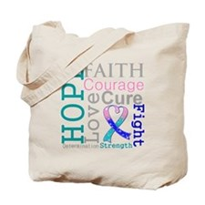 Thyroid Cancer Hope Courage Tote Bag