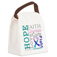 Thyroid Cancer Hope Courage Canvas Lunch Bag
