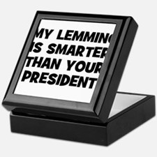 My Lemming Is Smarter Than Yo Keepsake Box