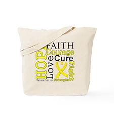 Testicular Cancer Hope Tote Bag