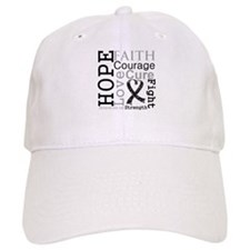 Skin Cancer Hope Courage Baseball Cap
