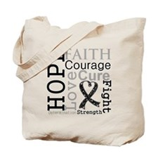 Skin Cancer Hope Courage Tote Bag
