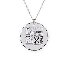 Skin Cancer Hope Courage Necklace
