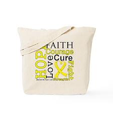 Sarcoma Hope Courage Tote Bag