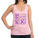 Pancreatic Cancer Hope Courage Racerback Tank Top