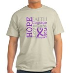 Pancreatic Cancer Hope Courage Light T-Shirt