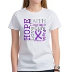 Pancreatic Cancer Hope Courage Women's T-Shirt