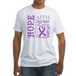 Pancreatic Cancer Hope Courage Fitted T-Shirt