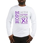 Pancreatic Cancer Hope Courage Long Sleeve T-Shirt