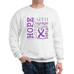 Pancreatic Cancer Hope Courage Sweatshirt
