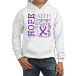 Pancreatic Cancer Hope Courage Hooded Sweatshirt
