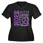 Pancreatic Cancer Hope Courage Women's Plus Size V