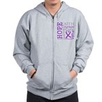 Pancreatic Cancer Hope Courage Zip Hoodie