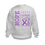 Pancreatic Cancer Hope Courage Kids Sweatshirt