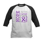 Pancreatic Cancer Hope Courage Kids Baseball Jerse