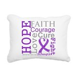 Pancreatic Cancer Hope Courage Rectangular Canvas