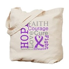Pancreatic Cancer Hope Courage Tote Bag