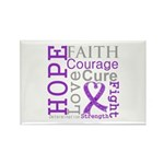 Pancreatic Cancer Hope Courage Rectangle Magnet (1