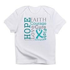 Ovarian Cancer Hope Courage Infant T-Shirt