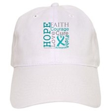 Ovarian Cancer Hope Courage Baseball Cap