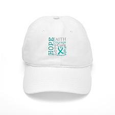 Ovarian Cancer Hope Courage Cap