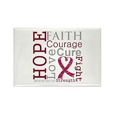 Multiple Myeloma Hope Courage Rectangle Magnet