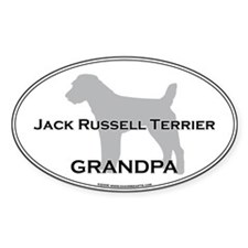 Jack Russell GRANDPA Oval Decal