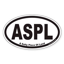ASPL A Salty Piece Of Land Euro Oval Decal