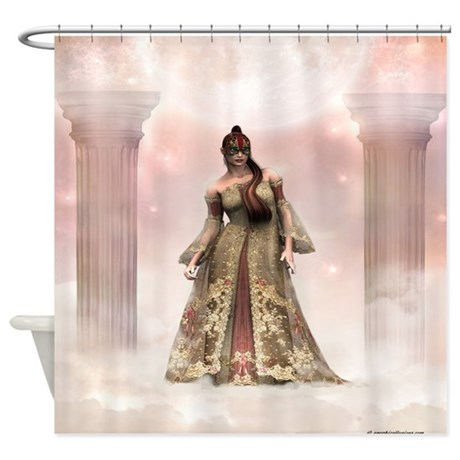 Mysterious beauty fantasy shower curtain by graphicallusions for Fantasy shower curtains