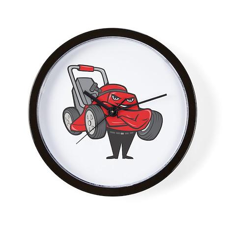 Lawn Mower Man Standing Arms Folded Cartoon Wall C