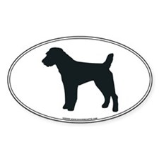 Jack Russell Silhouette Oval Decal