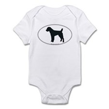 Jack Russell Silhouette Infant Creeper