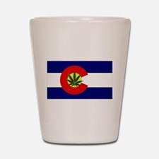 Colorado Marijuana Shot Glass