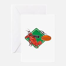 Crayfish Lobster Target Skeet Shooting Greeting Ca
