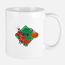 Crayfish Lobster Target Skeet Shooting Mug