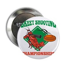 "Crayfish Lobster Target Skeet Shooting 2.25"" Butto"