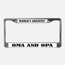 WORLDS GREATEST OMA OPA License Plate Frame
