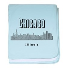 Chicago baby blanket