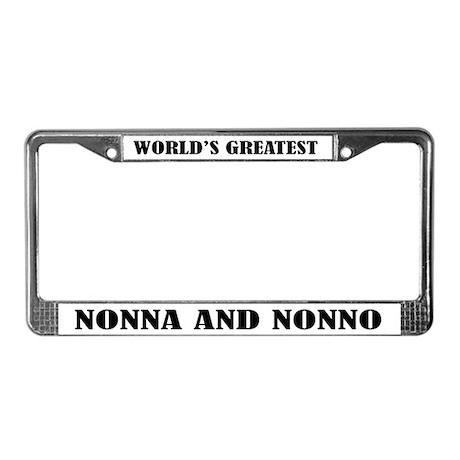 Nonna and Nonno License Plate Frame